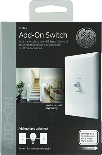 GE Z-Wave Wireless Lighting Control Add-On Toggle Style Switch - White
