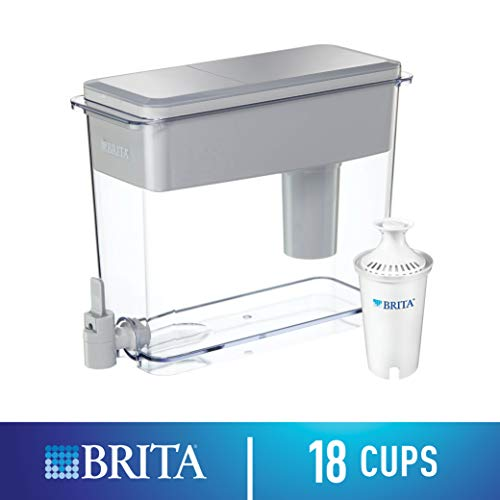 Brita UltraMax Water Filter Dispenser with 1 Standard Filter, White, 18 Cup