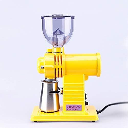Elektrische Kaffeemühle, Geisterzahnfräserschleifmaschine Haushalt Professionell Neu (Color : Yellow)