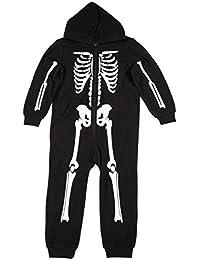 Boys Skeleton Jumpsuit One Piece Pajamas