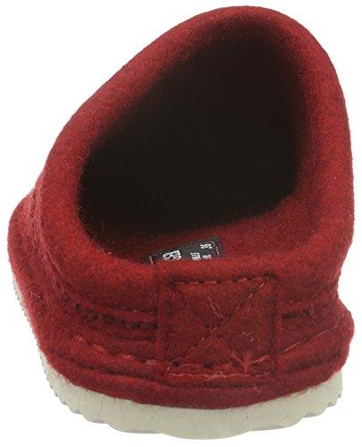 Haflinger Sky - Zapatilla de estar por casa Unisex adulto Rojo - Rot (paprika 42)