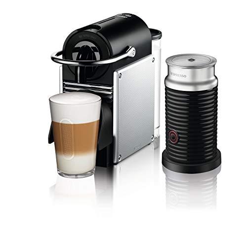 Nespresso by De'Longhi Aluminum Pixie Espresso Machine with Aeroccino