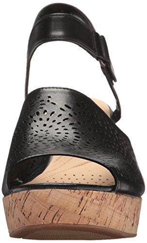 Clarks Womens maritsa Nila Platform, Black Leather, 7 Medium US