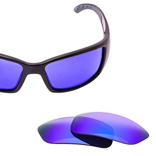 LenzFlip Replacement Lenses for Costa Del Mar BLACKFIN - Gray Polarized with Blue - Costa Mens Sunglasses Cheap
