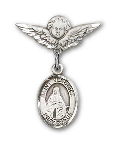 Icecarats Créatrice De Bijoux En Argent Sterling St. Veronica Charme Ange Pin Badge 7/8 X 3/4