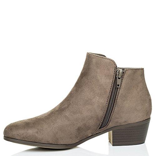 Franky Spylovebuy Tacón Bajas Mujer Botes Bloque Cremallera Zapatos 4qwCdwB