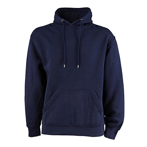 Embroidery Navy Blue Hoodie - 3