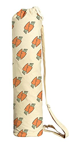 Carrot Couple Printed Canvas Yoga Mat Bags Carriers WAS_41 by VietsWay