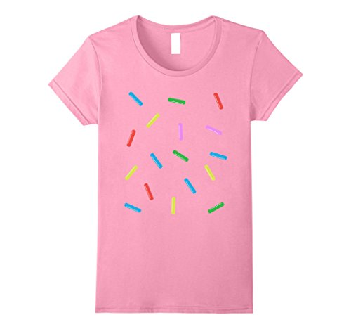 Womens Sprinkle Donut Costume T-shirt Small (Halloween Donuts With Teeth)