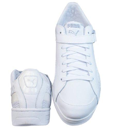 Puma The Key Lo Net femmes Cuir chaussures / Chaussures - blanc