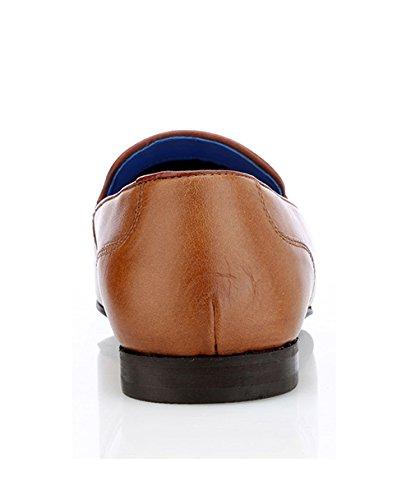Ruban Rouge pour homme Ampthill Smart Casual Chaussures en cuir marron clair avec pompons