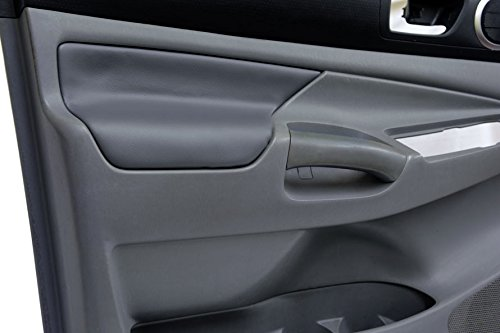 Toyota Skins Door - Fits 2005-2015 Toyota Tacoma Synthetic Gray Leather Door panel armrest . (Skin Only)