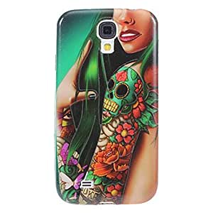 Shimmering Ground Skull Tatto Arm Pattern Plastic Soft Protective Back Case Cover for Samsung Galaxy S4 I9500