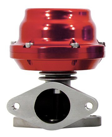 (TiAL F38 Wastegate - 8.70 psi/0.60 bar (sm. blue) spring, Red Body)