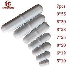 Magnetic Stir Bar Set,7pcs Lab Type-B Mixed Size PTFE Magnetic Stirrer Mixer Stir Bars