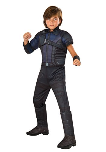 Rubie's Costume Captain America: Civil War Hawkeye Deluxe Muscle Chest Child Costume, (Hawkeye And Black Widow Halloween Costumes)