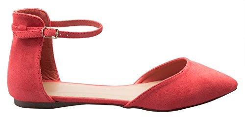Olivia K Donna Dorsay Punta A Punta Moda Balletto Fibbia Piatta Cinturino Alla Caviglia Chiusura Uva Frutta