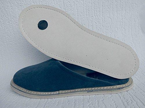 FILZ Pantoffeln - Hausschuhe, Gr.44,5 WOLLFILZ, BLAU, Made in Poland