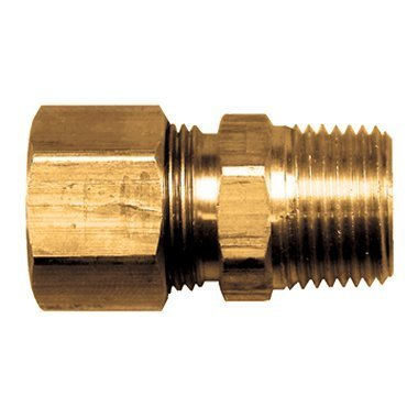 FASPARTS Compression Fitting Male Pipe Connector 3/8 Tube OD x 1/4 Male NPT MPT (3/8 Mip Fittings)