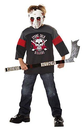 [Mememall Fashion Ice Hockey Jason Blood Sport Child Costume] (Jason Vorhees Masks)