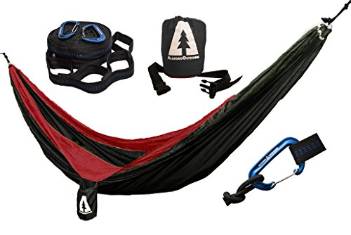 allegro-outdoors-ripstop-double-camping-hammock-and-tabono-tree-strap-bundle-dk-charcoal-red