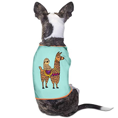 Nicokee Puppy Dogs Shirts Costume Sloth Riding Llama Pets Clothing Warm Vest T-Shirt L]()