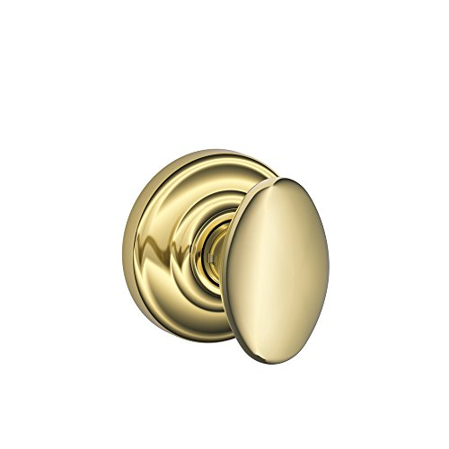 Schlage Lock Company FA10DNB605/F10SIE605AND Siena Passage Knob, Andover Rose, Bright Brass