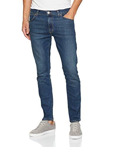 Tapered Wit 25f Uomo Wrangler Slim indigo Jeans Larston Blu Zzpqn0xwES