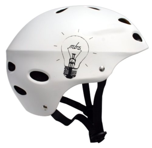 MBS Bright Idea Helmet (White, Large/X-Large)