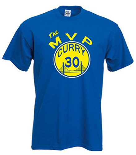 "fa2e8b78 Royal Golden State Curry ""The MVP"" T-Shirt – NBAMeme.com"