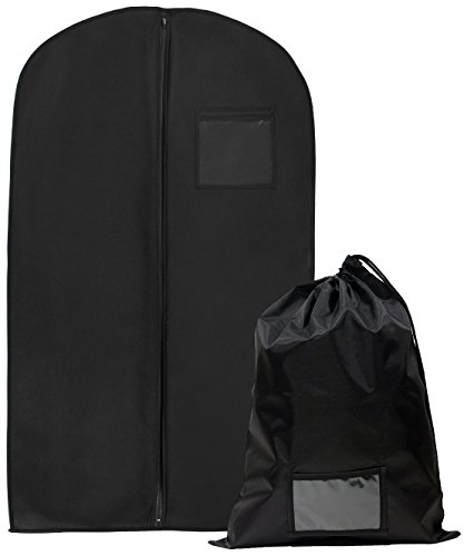 Adventure Textile Jacket (Bags for Less Professional Garment Bags – 24 X 62 Travel Organization and Protection for Clothes, Dresses, Jackets, Suits, Pants – Easy Carry Handle, Gusset & Clear ID Pocket –)