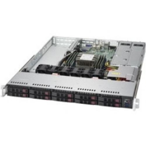 Supermicro SuperServer 1019P-WTR Barebone System - 1U Rack-mountable - Intel C622 Chipset - Socket P LGA-3647 - 1 x Processor Support - Black - 768 GB DDR4 SDRAM DDR4-2666/PC4-21300 Maximum RAM Suppor