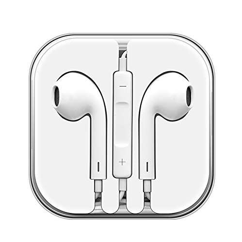 ChefzBest, 2-Pack Premium 3.5 mm Earphones/Earbuds/Headphones Stereo Mic&Remote Control Compatible iPhone iPad iPod Samsung Galaxy and More Android Smartphones - White by ChefzBest (Image #4)