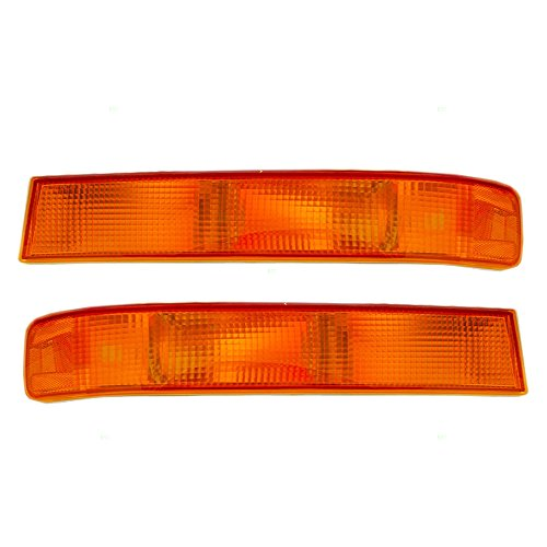 (Driver and Passenger Park Signal Side Marker Lights Replacement for Chevrolet GMC Van 20772637 20772636 AutoAndArt)