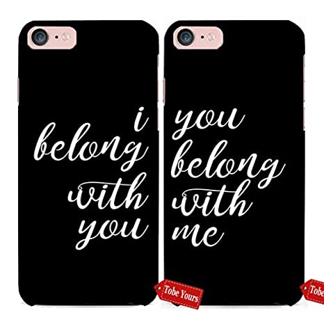 Amazoncom 3d Phone Case Lover Couple Matching I Belong With You