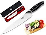 Professional Chef Knife 8 Inch, Razor Sharp & Rust Free Kitchen Knife,German High-Carbon Stainless Steel