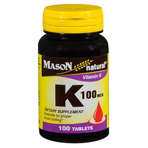 4 Pack Special of MASON NATURAL K VITAMIN 100 MCG TABLETS 100 per bottle