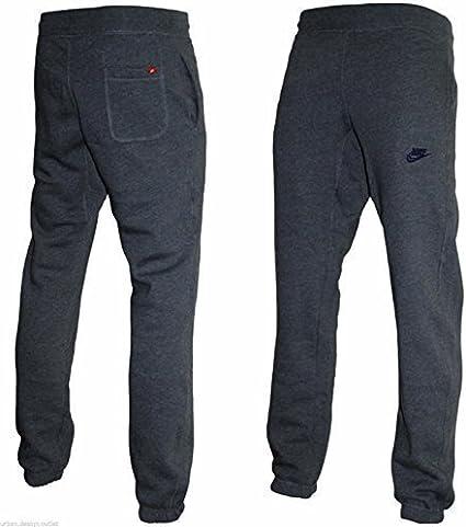 Nike Gris para Hombre Fleece Pantalón chándal chándal Jog Pantalón ...