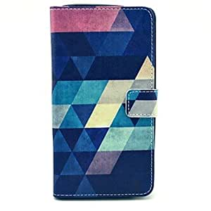HJZ Colorful Diamond Pattern PU Leather Case with Stand Card Holder for Samsung Galaxy Note 4