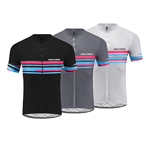 s Mens Mountain Bike Short Sleeve Cycling Jersey Bike Tshirt ()