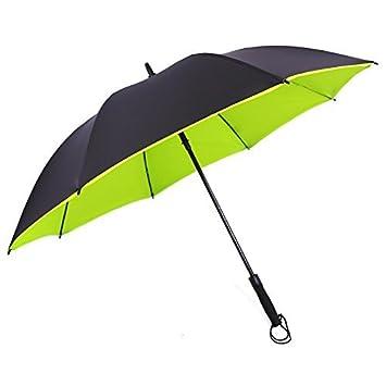 SSJDCF Los hombres de paraguas de golf doble capa super largo paraguas paraguas automático negocios paraguas