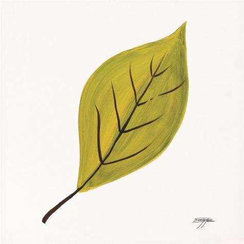 The High Quality Polyster Canvas Of Oil Painting 'Yellow Leaf' ,size: 18x18 (Romantic Creation Semi Mount)