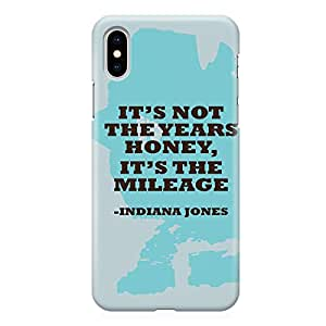 Loud Universe Movie Quote Honey iPhone XS Max Case Indiana Jones Mileage iPhone XS Max Cover with 3d Wrap around Edges