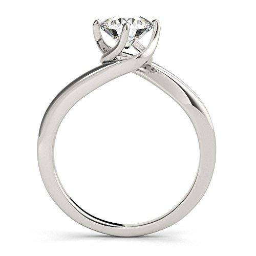 14K White Gold Unique Wedding Diamond Bridal Set Style MT50905