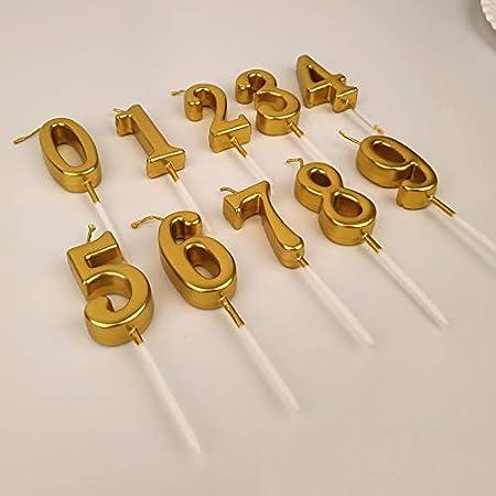 Velas de cumpleaños para niños y niñas, Color Dorado y ...