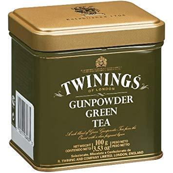 Twinings Green Gunpowder 100 Gram Loose Tea Tin, Set of 2