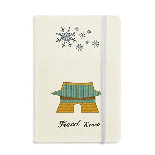 South Korea Gwanghwamun Gate Notebook Thick Journal Snowflakes ()