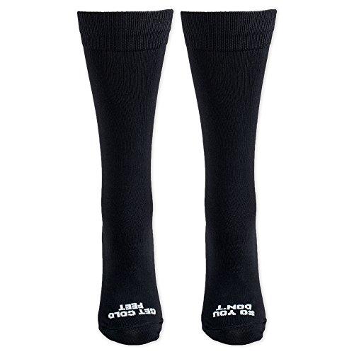 So You Don't Get Cold Feet Black Groom Wedding Day Socks (Groom Socks)