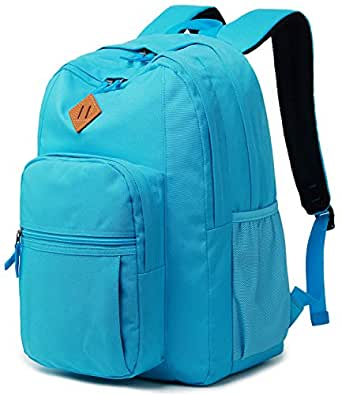 Abshoo Classical Basic Womens Travel Backpack for College Men Water Resistant Bookbag (PowderBlue)