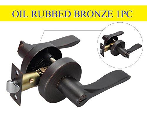 Privacy Bathroom Lever Lock Set for Interior Door,Heavy Duty Door Lock Handle,oil rubbed bronze Bed/Bath - Locks Door Heavy Duty